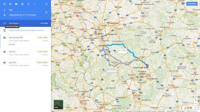 Routenbeschreibung von Köln zur Pension Florstädter Hof